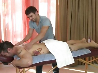 awesome gay massage parlor with a hidden camera