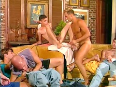 extremely impressive and hung: nine dudes inside