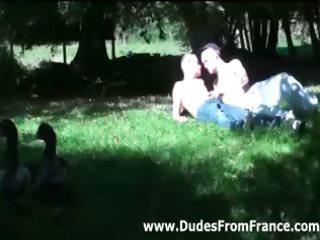 french gay super studs into triple fellatio
