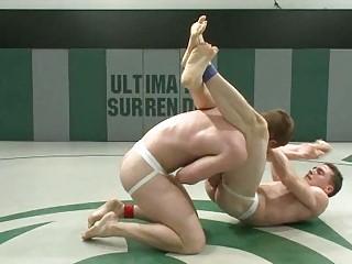 amateur gay dudes wrestle for ass domination