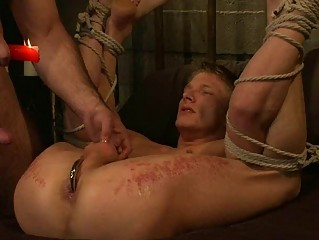 gay hunk turned on by domination and waxing