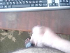 cumshots on desk