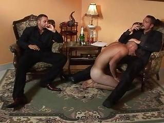 businessmen invite gay whore