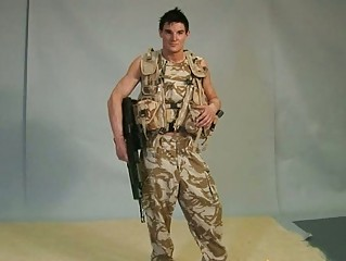 gay hunk military boy acquires off pants