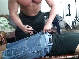 gay muscle hunk bound and gangbanged