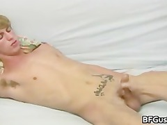 bleached tony acquires his lovely libido jerked