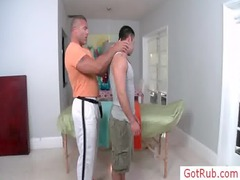 hairy chested guy acquiring examined before