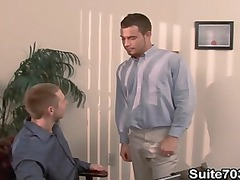 gays spencer and trent drilling inside the office